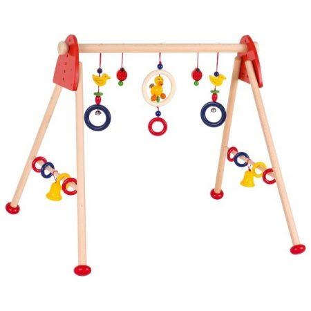 Baby-Fit Ententanz, Greif- und Spieltrainer aus Holz