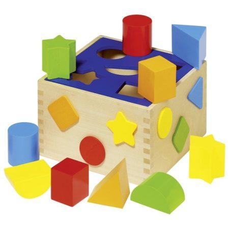 GOKI Steckwürfel aus Holz, Sortierspiel