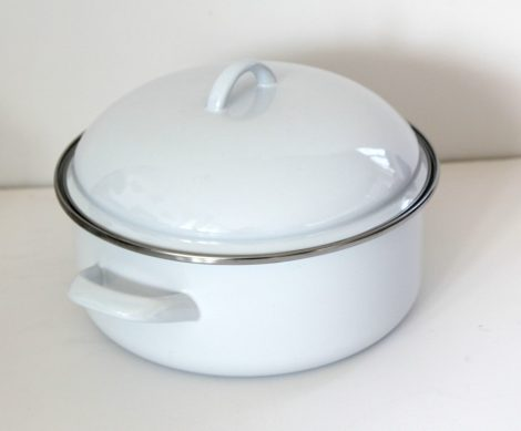 Emaille Topf 24 cm  3,75 L weiss