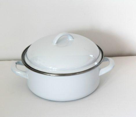 Enamel pot 20 cm 2,5 L - White