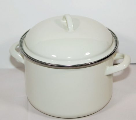 Enamelled Pot White 20 cm 4 L