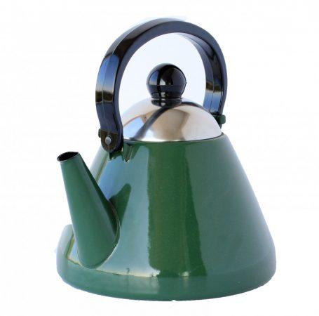 Emaille Teekessel, 1,5 L, Grün