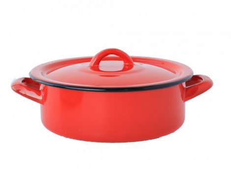 Emaille Topf 20 cm  2 L Rot