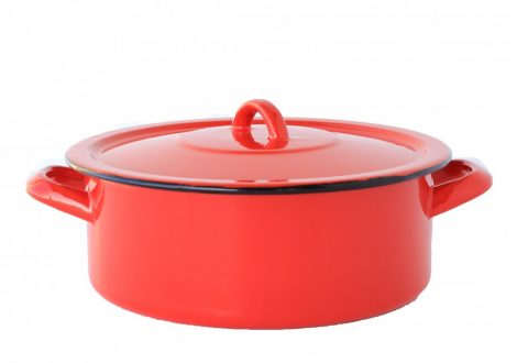 Emaille Topf 24 cm  4 L Rot