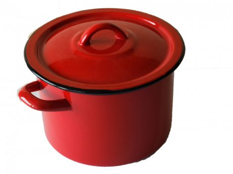 Enamel Pot 18 cm 3 L Red
