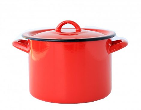 Emaille Topf  20 cm  4,5 L Rot