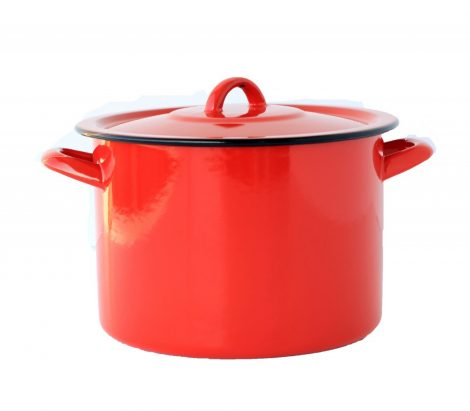 Enamel Pot  22 cm  5,5 L Red