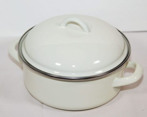Emaille Topf Weiss 20 cm 2,5 L