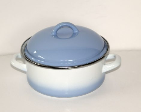 Emaille Topf Blau-Weiss, 18 cm - 1,75 L