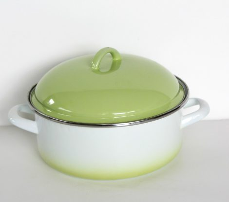 Enamelled Pot 22 cm  3,5 L Green-White