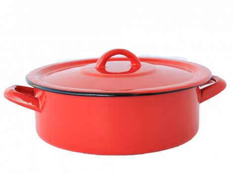 Enamel Pot  22 cm  2,75 L Red