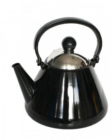 Emaille Teekessel, 1,5 L, Schwarz